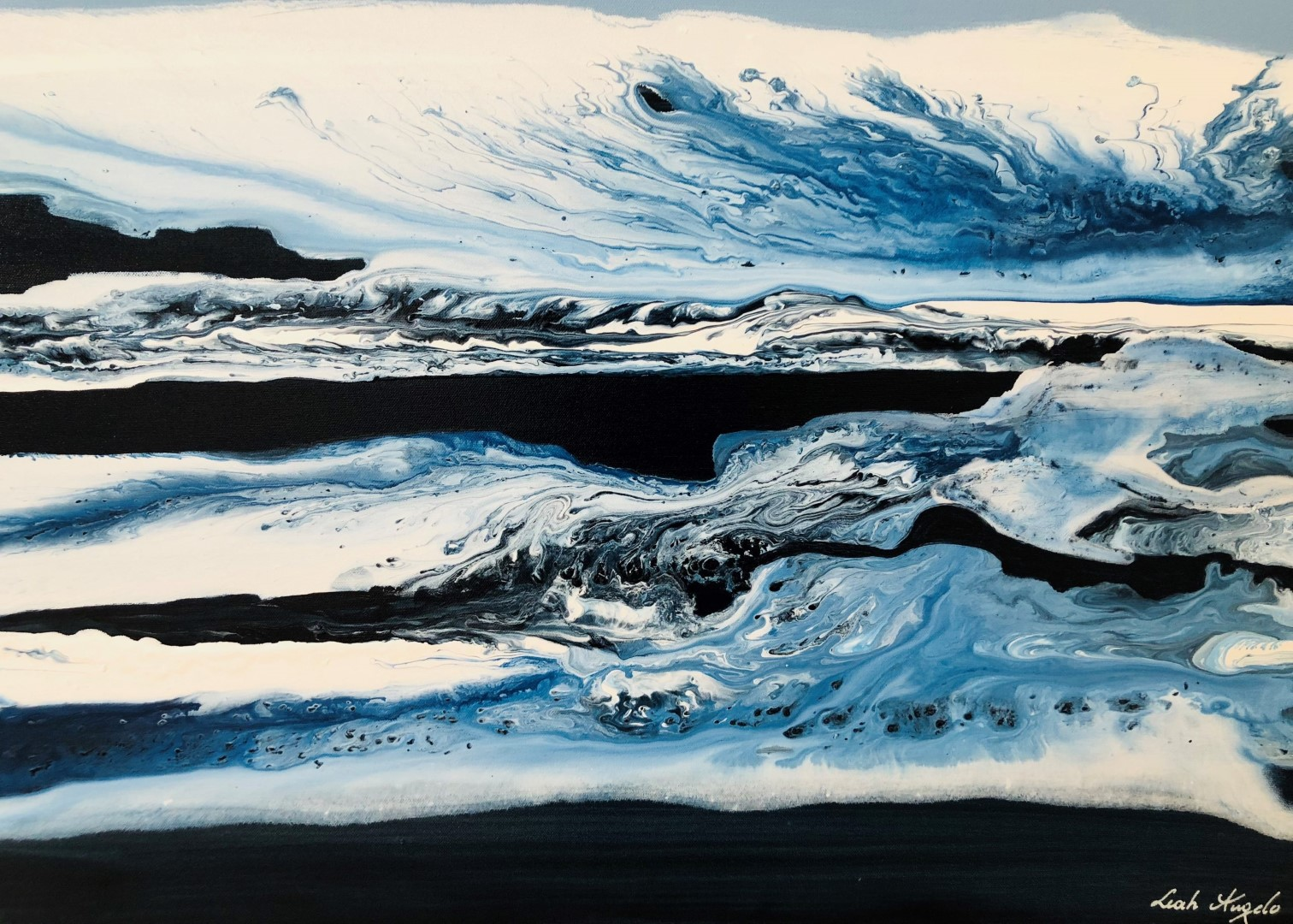 abstract water paintings